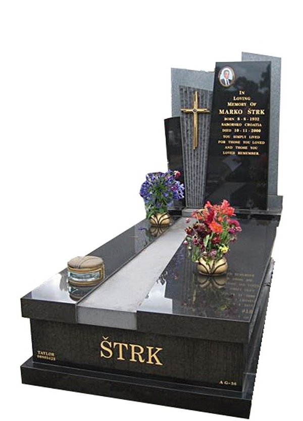 Springvale-B-G-Black-Indian-Granite-Full-Monument-Strk-Cemetery-Memorial
