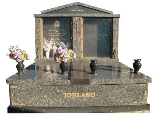 Springvale Sapphire Brown and Royal Black Double Monument Iorlano Cemetery Memorial