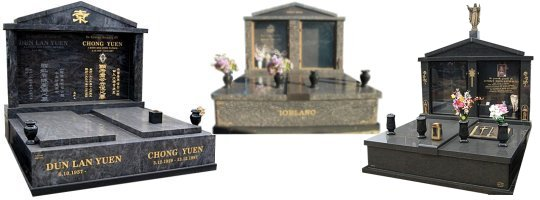 Cemetery Memorials - Double Monuments