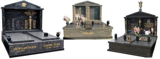 Cemetery Memorials - Double Monuments