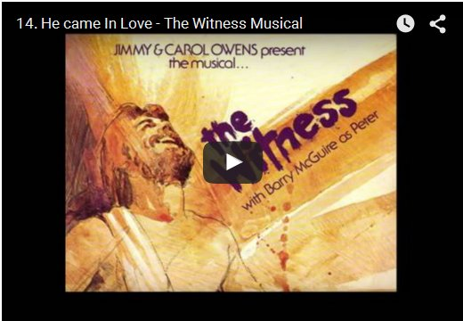 He Came In Love - The Witness Musical by Jimmy Owens on YouTube